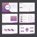 Purple polygon presentation templates Infographic elements flat design set for brochure flyer leaflet marketing Royalty Free Stock Photo