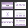 Purple presentation templates Infographic elements flat design set for brochure flyer leaflet marketing Royalty Free Stock Photo