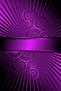 Purple Rays and Scrolls Abstract Royalty Free Stock Photo
