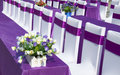 Purple ribbon  chair Royalty Free Stock Photo