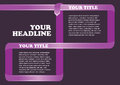Purple Ribbon Frame Abstract Vector Background Design Template Royalty Free Stock Photo