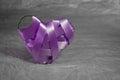 Purple ribbons heart