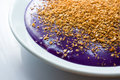 Purple rice cake a filipino Stock Photography