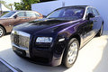 Purple rolls royce ghost extended wheelbase showing in amoy city china Stock Images