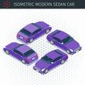 Purple sedan car