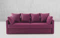 Purple settee or couch Royalty Free Stock Photography