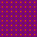 Purple seventies pattern seamless flower psychedelic shapes Royalty Free Stock Photography