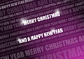 Purple shiny christmas text Stock Image