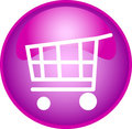 Purple shopping button Royalty Free Stock Photo