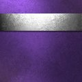 Purple and silver background Stock Photo