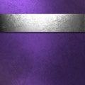 Purpurová a stříbro