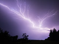 Lightning in purple sky Royalty Free Stock Photo