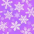 Purple snowflakes seamless Royalty Free Stock Images