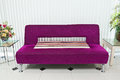 Purple sofa in lobby Stock Photography
