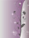 Purple Sparkle Swirl Background Royalty Free Stock Photo