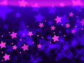 Purple stars background shows celestial light and starry showing Stock Images