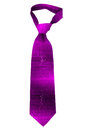 Purple striped necktie Royalty Free Stock Images