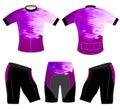 Purple style on sports t-shirt
