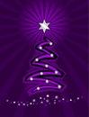 Purple stylized christmas tree Stock Image