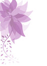 Purple summer background with flower Royalty Free Stock Photography