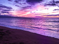Purple Sunset in Maui