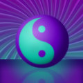 Purple & Teal Yin Yang Vortex Royalty Free Stock Photography