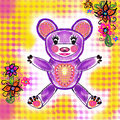 Purple teddy bear Royalty Free Stock Photo