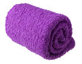 Purple towe towel as a background for your message Royalty Free Stock Photos