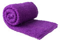 Purple towel as a background for your message Stock Images