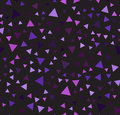Purple triangle chaotic pattern. Seamless vector background