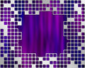 Purple Under Metal Grid, place for big text Stock Photos