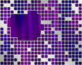 Purple Under Metal Grid, place for text Royalty Free Stock Photo