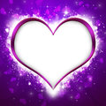 Purple Valentine Heart Background Royalty Free Stock Photo