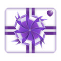 Purple Valentines Gift Box Stock Photography