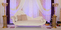 Purple wedding stage Royalty Free Stock Photo