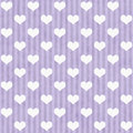 Purple And White Hearts And St...