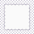 Purple And White Polka Dot Fra...
