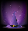 Purple witch hat Royalty Free Stock Photo