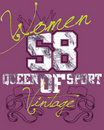Purple women sports design Royalty Free Stock Photography