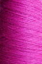 Purple wool texture thread close up of Royalty Free Stock Image