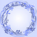 Purple wreath frame Stock Photo
