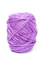 Purple yarn wool for knitting Royalty Free Stock Photo