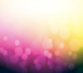 Purple and yellow bokeh abstract light background illustration design Royalty Free Stock Image