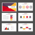 Purple yellow red Infographic elements icon presentation template flat design set for advertising marketing brochure flyer Royalty Free Stock Photo