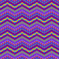 Purple zig zag stripes pattern seamless funky colorful fashion Royalty Free Stock Photography