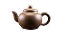 Purpurroter clay teapot Stockbild