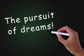 The pursuit of dreams Royalty Free Stock Photo