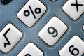 Push-button of the calculator macro Royalty Free Stock Photo