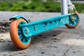 Push scooter photo of puch in the park Royalty Free Stock Photography