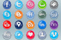 Push Social Media Buttons Royalty Free Stock Image